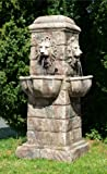 Primrose Großer Löwenkopf Gartenbrunnen mit LEDs