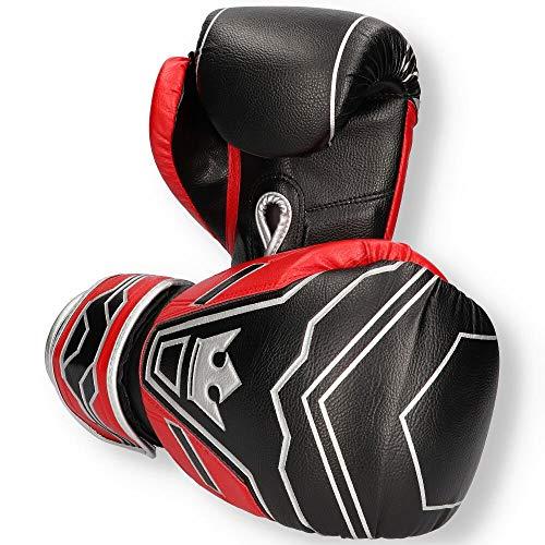 Buddha Fight Wear Guantes de Boxeo Future Rojo-Negro 10 Onz