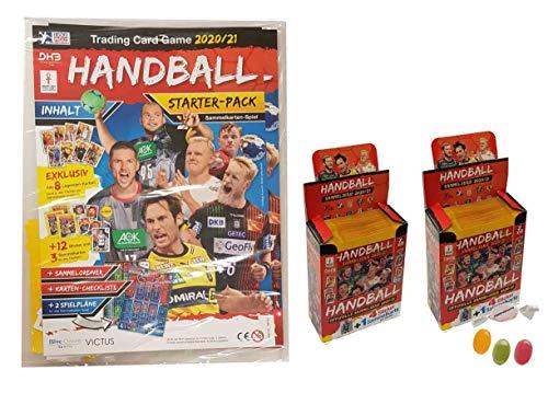 Blue Ocean Victus Handball Sticker 2020/2021 - 1x Starterpack inkl. 8X Legenden Cards + 2 Display je 36 Stickertüten Saison 20/21 zusätzlich 1 x Sticker-und-co Fruchtmix Bonbon