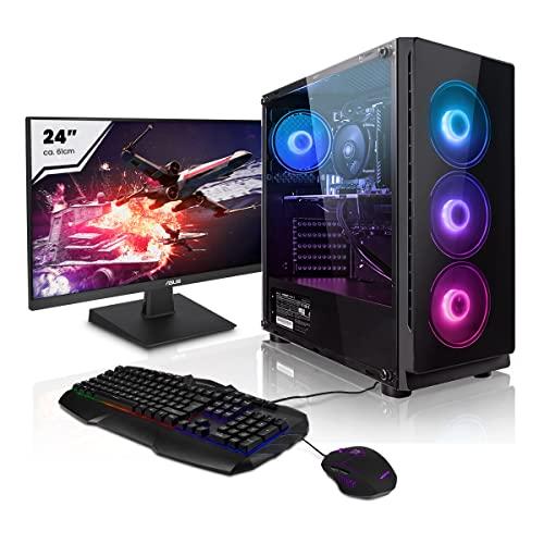 Pack Gaming - Megaport PC AMD Ryzen 5 3600 • 24' Full-HD • Teclado y ratón Gaming • GeForce GTX1660 Super 6GB • Windows 10 • 16GB DDR4 • 2TB HDD • 240GB SSD • PC Gamer • Ordenador de sobremesa