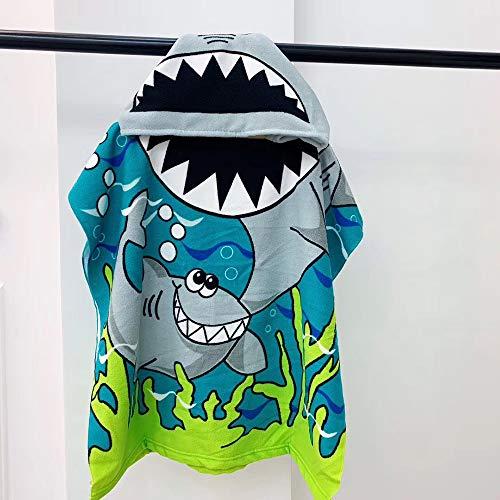 RZJF Badetuch-Tierkarikaturhai des Neuen Bademantels Der Kinder