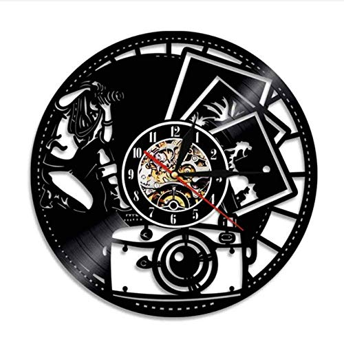 wtnhz LED-vinyl record wall clock CD Record Wall Clock LP Vinyl Vinyl Record Wall Clock Modern lovers home decoration gifts