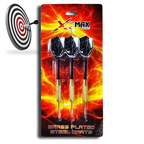 Xq Max Sports - 3er Set Ottone Plated Steel Freccette, Freccette Ogni 20g