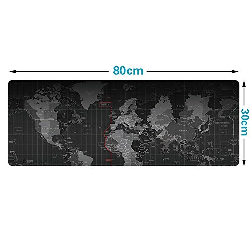 Extended Gaming Mouse Pad,Large Size 31.5 * 11.8 inches (World Map Edge)