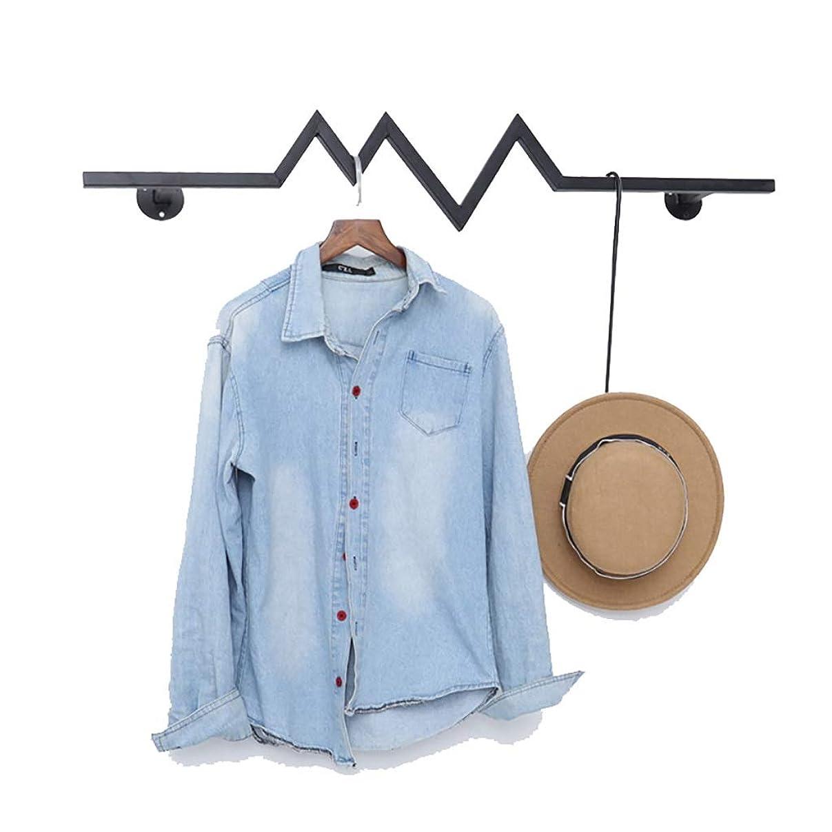 可能性ショットガロンロッド、ウォールガーメントラックハンギング黒服は、商業服は服店-100/120センチメートル用ロッド、ハンガーストレージラックを表示します (Size : 120cm)