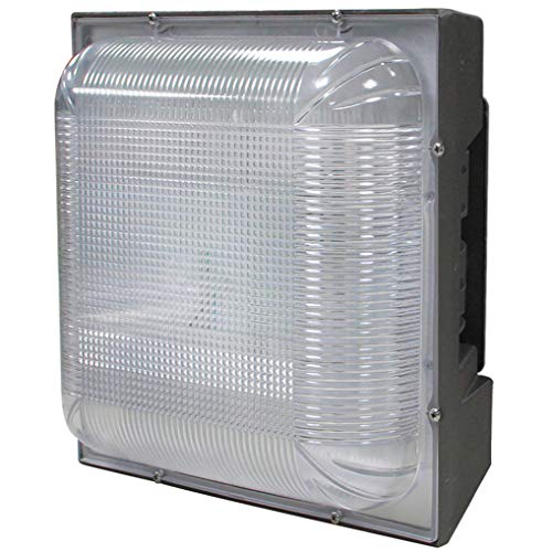 """Kadision LED Canopy Light 75W (175-300W HPS/MH Equivalent), 8.8"""" x 8.8"""" Square Ceiling Lights for Parking Garage Gas Station Warehouse Lighting, 5000K 8300lm 100-277Vac IP65 10-Year Warranty"""