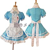 tzm2016 Anime Cosplay Costume French Maid Outfit Halloween, 4 pcs as a set including dress;...