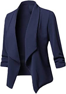 Howely Women Open-Front Fitness Cardigan Pure Colour Long Sleeve Suit