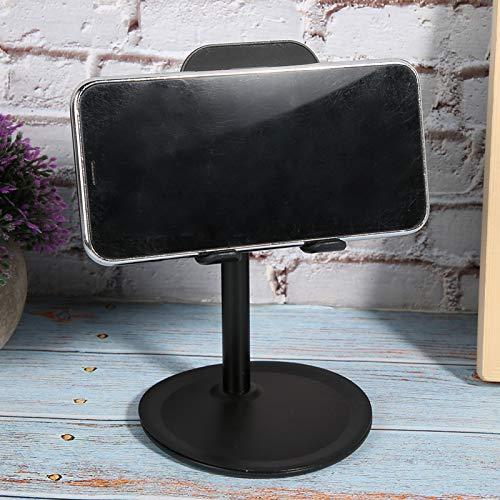 Soporte de escritorio, ajuste correcto de ángulo de brazo largo flexible hecho de almacenamiento/soporte de ABS para teléfono móvil (negro)