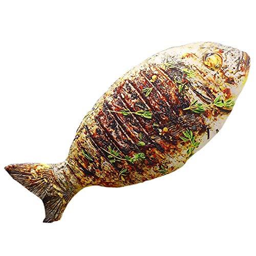 LPing Cojín 3D Personalizado,Almohada de simulación,Cojín de Comida Decorativo para el hogar y Juguete de Peluche Vivid,Pollo Frito,Pescado,camarones,calamares