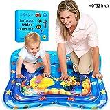 swonuk Tapis de Jeu Gonflable Tapis d'eau bébé Gonflé de Coussin Rempli d'eau pour des Enfants 40*32 inch