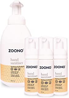 Zoono Germ Free 24 Hand Sanitiser and Protectant | 24 Hour Protection Mini Pack (50mL x 3 + 500mL)