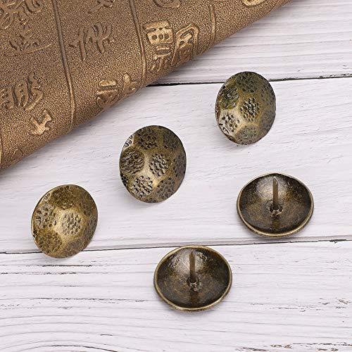 Tachuelas de tapicería antiguas Cajas de madera de clavo para muebles de remache para decoración de puertas de sofá