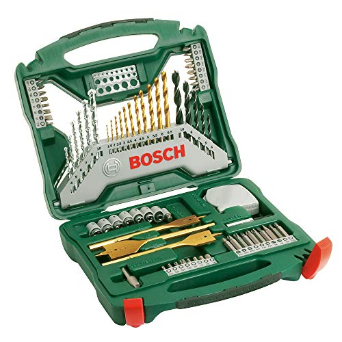 Bosch 70-Piece X-Line Titanium Drill and Screwdriver Bit Set (Wood, Masonry and Metal, Accessories for Drills)