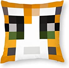 Decorative Pillow Covers Stampy Minecraft Skin Throw Pillow Case Cushion Cover Home Office Decor,Square 20 X 20 Inches