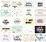 Edition Seidel Set 20 Geburtstagskarten - Glückwunschkarten zum Geburtstag - Postkarten für Erwachsene und Kinder - Happy Birthday Karten