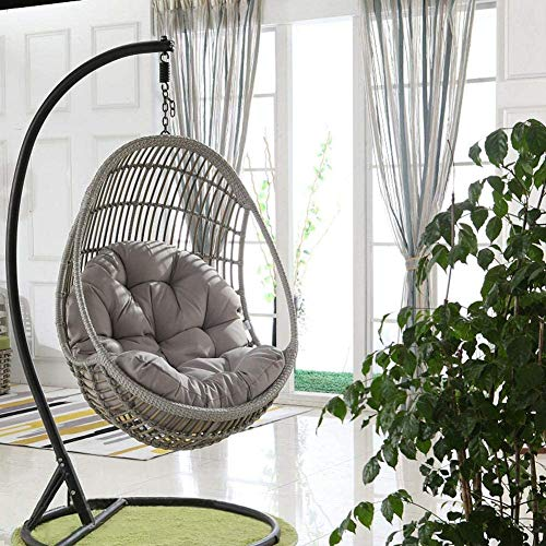 Ezoon Wicker Rattan Cushion Hanging Egg Chair Pads,Outdoor Waterproof Hammock Pad,Thick Nest Swing Pad Back Cushion for Backyard Balcony Garden Patio