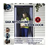 Gaiaネット磁気スクリーンドアレース詳細、簡単インストールHeavy DutyメッシュカーテンとフルフレームVelcro Fitsドア開口部、ブラック、2サイズ 34x82 screendoor2