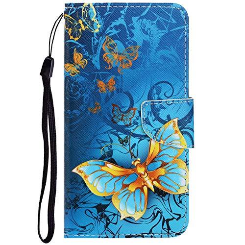 Dclbo Hülle für Huawei P40 Pro, Handyhülle PU Leder Schutzhülle Flip Wallet Case Lederhülle Brieftasche Tasche mit Kartenfächer Magnet Handytasche Cover Klapphülle für Huawei P40 Pro -6 Muster