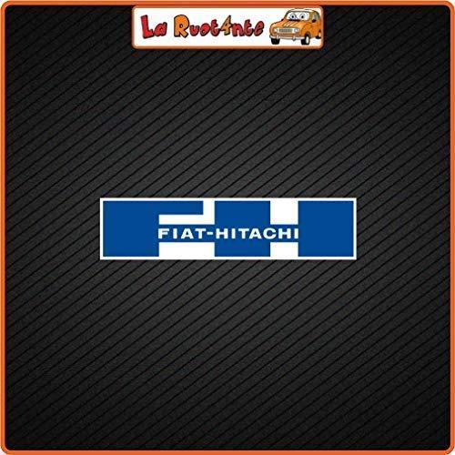 La Wheel 2 Sticker Fiat Hitachi (Vinyl) Auto Motorfiets Vespa Fietshelm 22x5,5 Cm