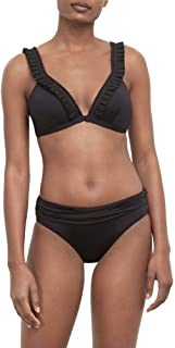 Kenneth Cole New York Women's Banded Triangle Over The Shoulder Bikini Swimsuit Top