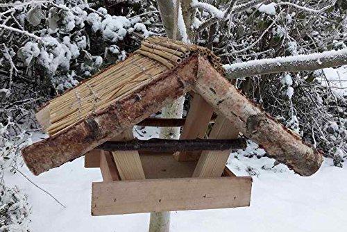 """Vogelfutterhaus mit Reetdach, """"Reiherholz"""""""