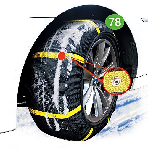 atliprime - 2 Cadenas de Nieve Antideslizantes para neumáticos de Hielo y Barro, Cadenas de Nieve para Auto y Nieve (SD78)