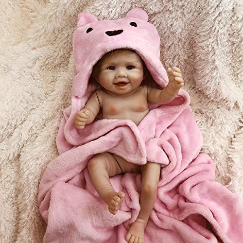TERABITHIA 20 Zoll handgemachte sanfte Berührung seltene realistische Silikon Ganzkörper Reborn Babypuppen wasserdicht wach Aussehen echt