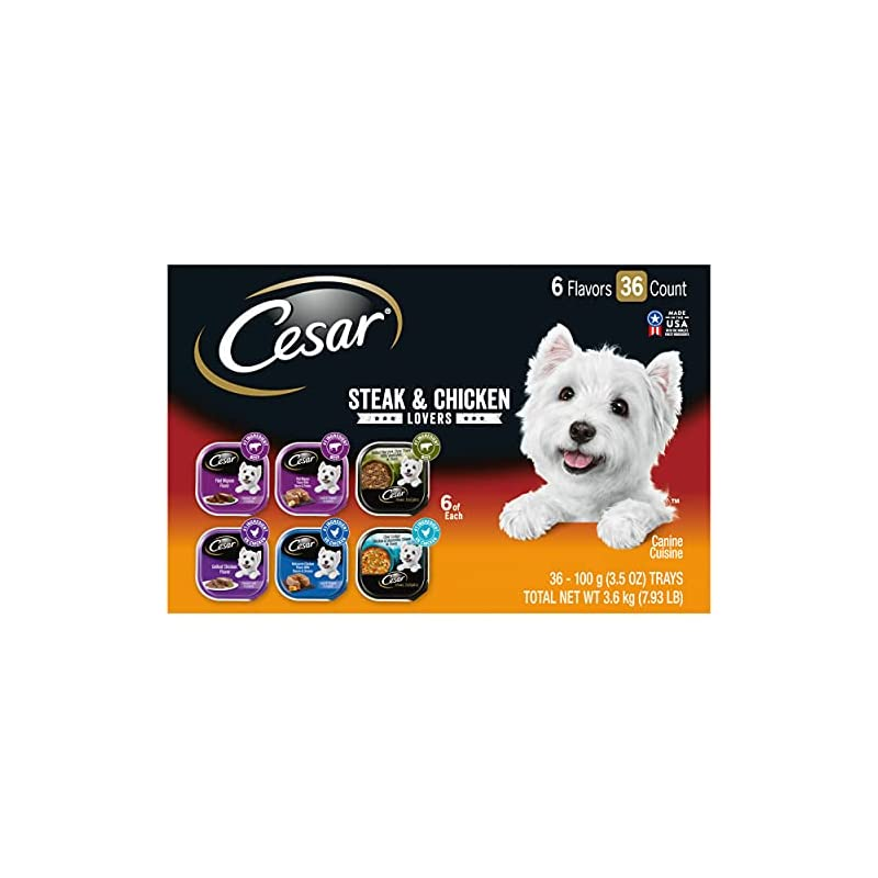 dog supplies online cesar soft wet dog food classic loaf in sauce steak and chicken lovers variety pack
