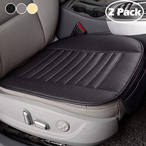 Big Ant Sitzauflagen Auto - Sitzbezüge Auto Vordersitze Universal Sitzkissen Auto Wasserdicht Autositzbezug mit PU Leder Perfekt für die meisten Fahrzeuge (schwarz,2-Stück)