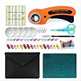 96-piece Rotary Cutter Kit.the 45mm Rotary Cutter Tool Kit Includes 5 Additional Blades, Cutting Pad, Patchwork Ruler, Carving Knife, Storage Bag, Sewing Clip, A Full Set Of Sewing And Stitching Tools
