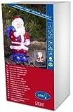 Konstsmide 6153-203 LED Acrylfigur 'Weihnachtsmann' / für Außen (IP44) / 24V Außentrafo / 48 kalt weiße Dioden / transparentes Kabel
