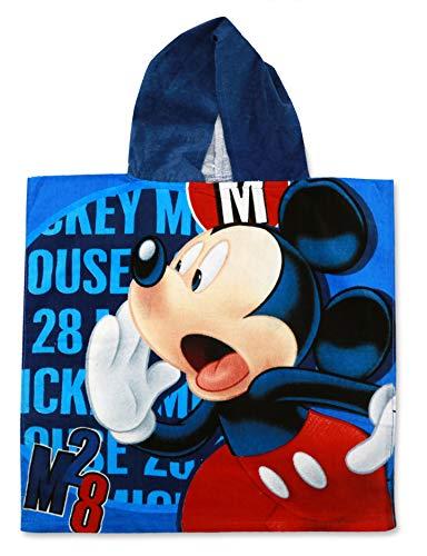 SETINO MIC-H-PONCHO-91 - Poncho de baño infantil con capucha (55 x 80 cm), diseño de Mickey Mouse