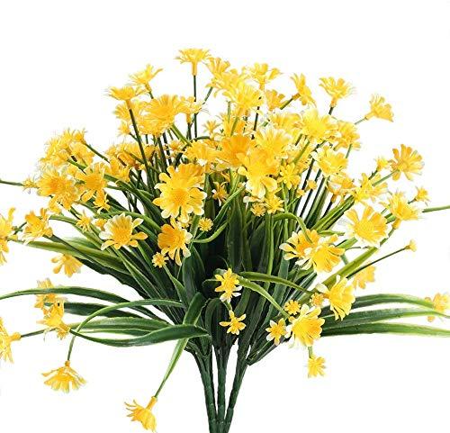 4pcs margarita artificial arbustos falsos plantas de imitación crisantemo arbustos de plástico...