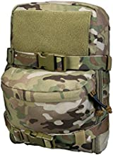 IDOGEAR Mini MOLLE Hydration Pouch Tactical Water Reservoir Bag Outdoor Water Bladder Carrier Pack for Tactical Backpack Gears 500D Nylon (A:Multicam)