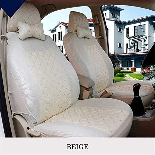 Cubiertas de asiento de automóvil 1-conjunto de asiento universal del automóvil de la cubierta transpirable coche de cinco asientos de fundas for sillas de Protección del cojín generales adecuados for