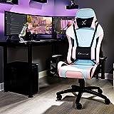 X Rocker Agility - Silla de oficina ergonómica con reposabrazos y función de balancín, giratoria y regulable en altura, color blanco y rosa