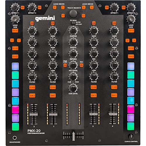Gemini PMX-20 | 4 Kanal DJ Mixer mit MIDI- und 4 In/4 Out-Audio-Schnittstelle