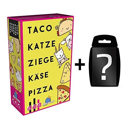yvolve Taco Katze Ziege Käse Pizza - Kartenspiel | DEUTSCH | Set inkl. Kartenspiel