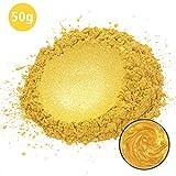 MOSUO Epoxidharz Farbe Metallic Farbpigmente, 50g Gold Schimmer Glitter Seifenfarbe Set Mica Pulver...