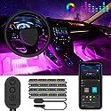Auto LED Innenbeleuchtung, Govee RGB Auto Innenraumbeleuchtung mit APP, Wasserdichte Mehrfarbiger Musik Auto Fußraumbeleuchtung Strip Kit mit Zigarettenanzünder und Mikrofon für iPhone Android, 12V