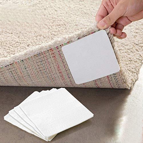 8Pcs nach Hause Fußboden Teppich Teppich Mat Selbstklebende Anti-Rutsch-Aufkleber Pads Doppelseitiges Haftkleber Platz Non-Woven-Gewebe-Klebeband