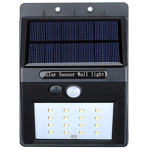 VicTsing 16 LEDs Luz Solar con Sensor de Movimiento Focos para Pared Exterior, Iluminación y Seguridad de exterior, 1 Pack