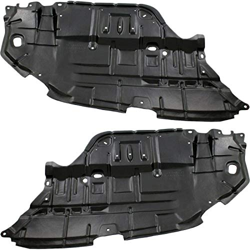Make Auto Parts Manufacturing Set of 2 Driver & Passenger Side Engine Splash Shield for Toyota Camry 2012 2013 2014 - TO1228177 TO1228178