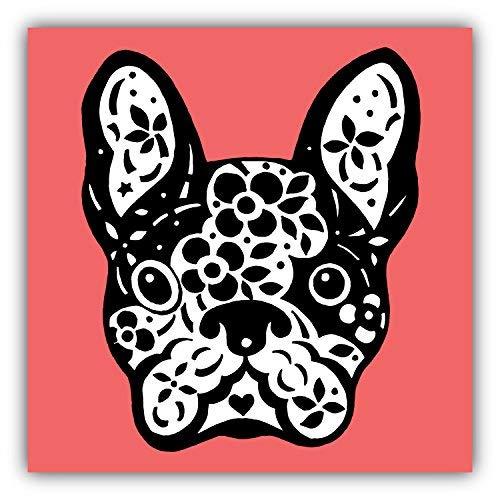 DG Graphics French Bulldog Sugar Skull Art Decor 5'' x 5'' Vinyl Decal Sticker Wall Window Any Smooth Surface