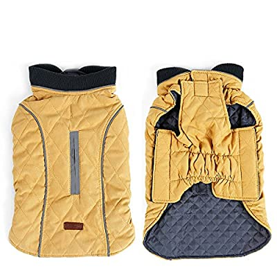 AIWOKE Pet Winter Dog Coat cotton Clothing Puppy Jacket Reversible Cold Weather Keep Warm Vest for Small Medium Large Dogs Sweater XS-XXXL (XXL, Yellow)