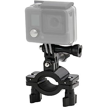 non-brand Sharplace Adattatore Asta Manubrio Bici In Alluminio Supporto Telecamera Bici Con Attrezzo Per Fotocamera Gopro