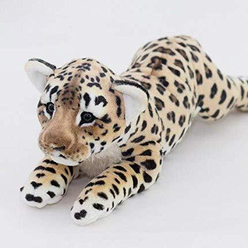 N/D Regalo para Amigos Regalo para Padres de Unos 60 cm Simulación León Snow Leopard Tiger The Playful Cute Plush Pillows Animales de Peluche Juguete