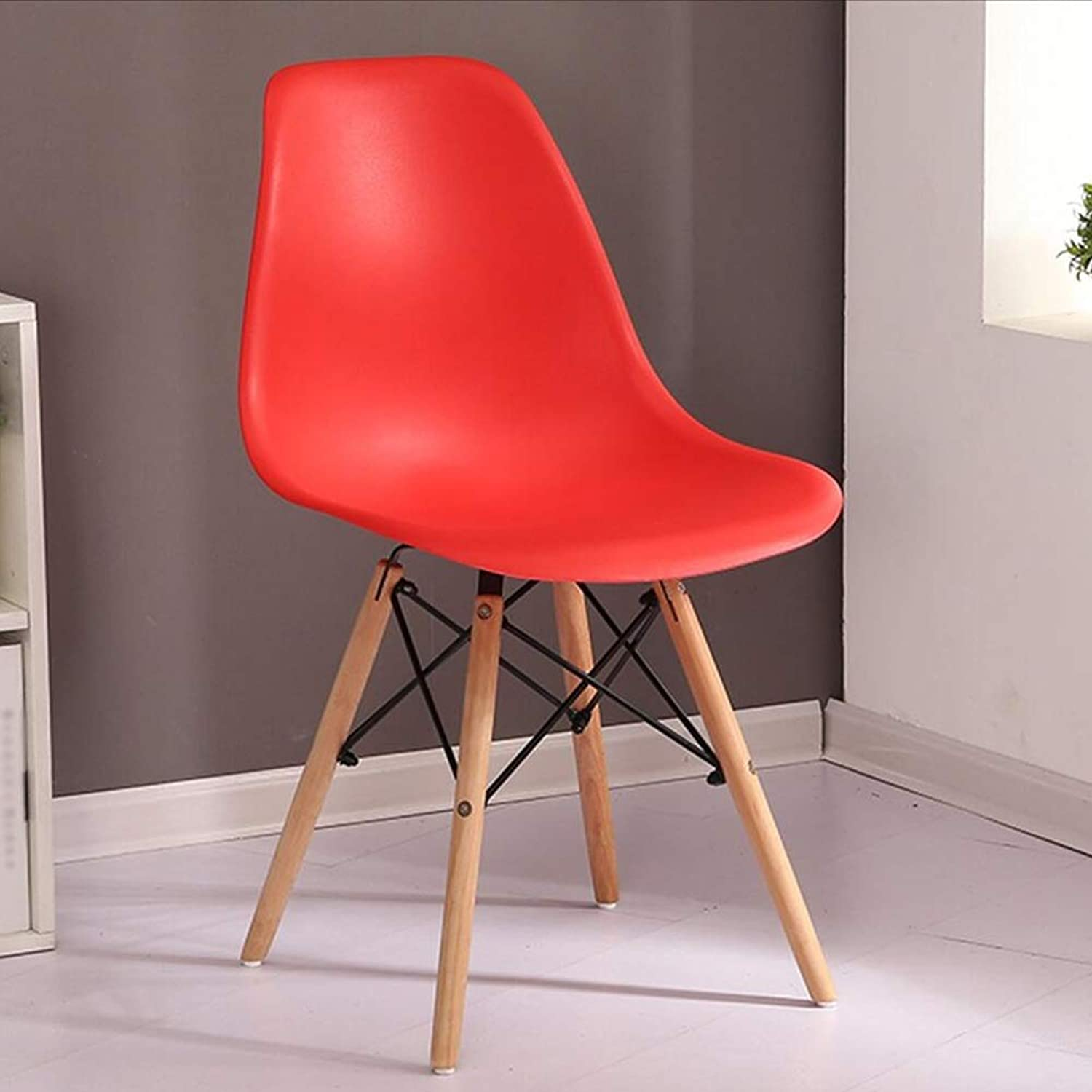 Dining Chairs Seat Chair Household Backrest Desk Northern Europe Casual Lazy Student Economic Type FENPING (color   RED, Size   81  41  39cm)