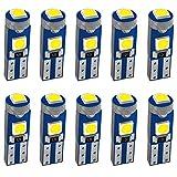 JAVR 10-Pack 3030 3 SMD 12V LED verte T5 / 74 73 2723 2721286 W3W W1.2W pour éclairage intérieur de voiture tableau de bord LED remplacement de lampe d'instrument automatique